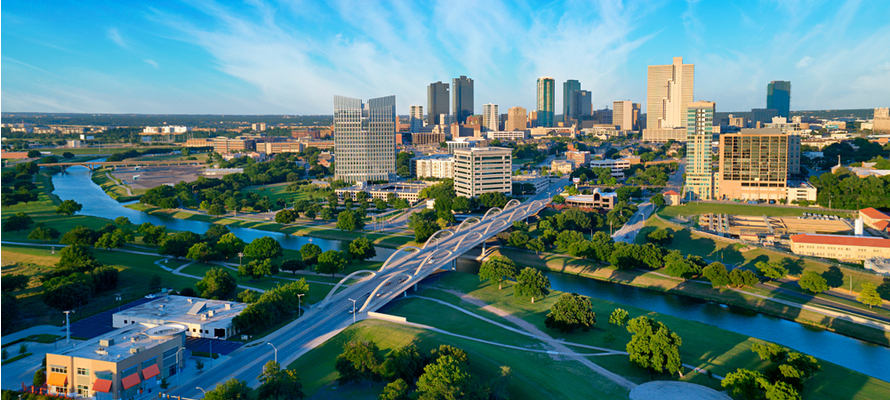 Fort Worth city skyline, fort worth roofing company